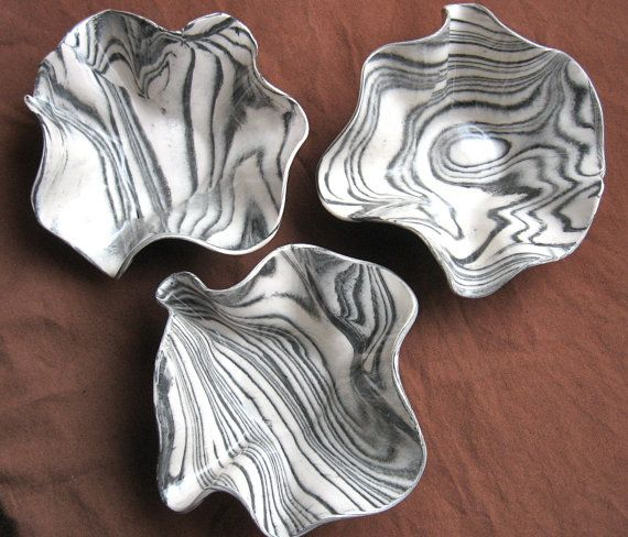 Cerámica y alfarería artesanal Agateware Bowl  tazón de