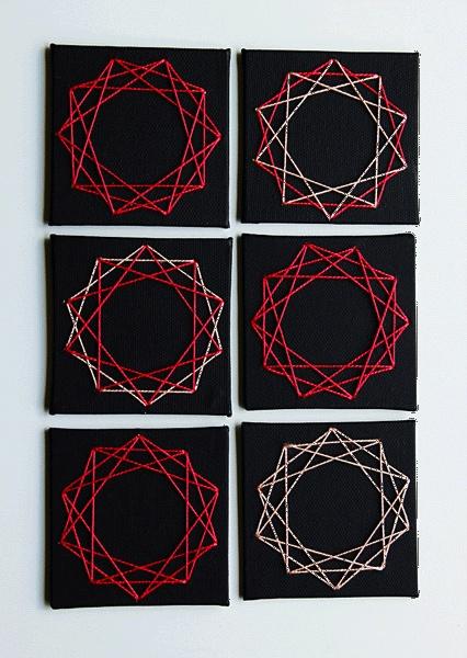 DIY Geometric String Art Escort Cards by Oh Happy Day: Interiors Idea, Art Escort, Escort Cards, Art Cards, Geometric String, Stringart, String Art Tutorials