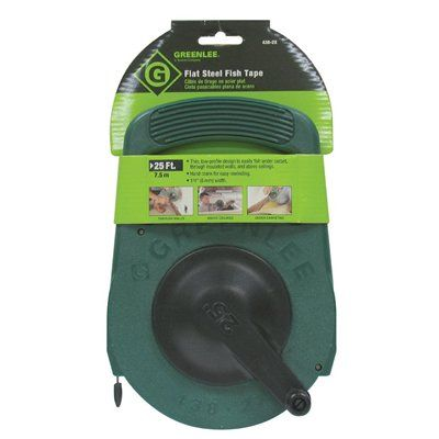 Greenlee 25-ft Flat Steel Fish Tape