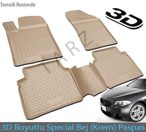Bmw Bmw 3 Serisi F30 xDrive 2012 Sonrası 3D Havuzlu (BEJ) Paspas
