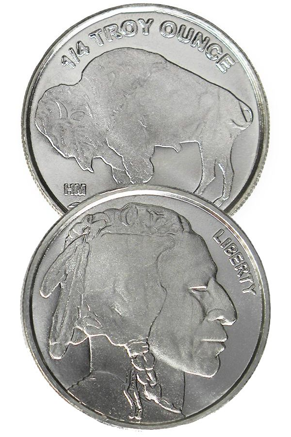 Buy 1 4 Oz Silver Buffalo Indian Head Rounds Money Metals In 2020 Valuable Coins Silver Bullion Indian Head