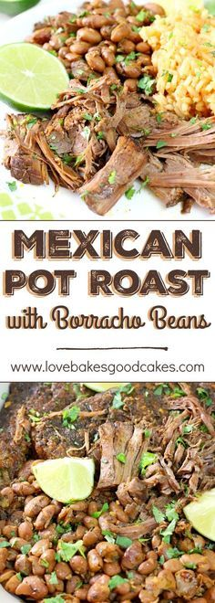 Talk about a flavor explosion in your mouth! This Mexican Pot Roast with Borracho Beans recipe will become a new family favorite!