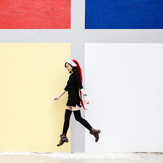 Get this look: http://lb.nu/look/8925991  More looks by Ren Rong: http://lb.nu/pupuren  Items in this look:  Daiso Santa Hat, Pomelo Fashion Dress, We Love Colors Thigh High Socks, Steve Madden Boots   #artistic #chic #classic #welovecolors #daiso #pomelo #stevemadden #sg #christmas