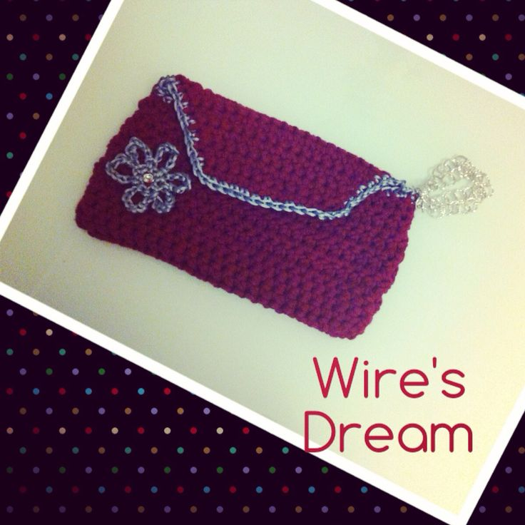 ... crochet bag Wires Dream Pinterest Bordeaux, Wire and Crochet