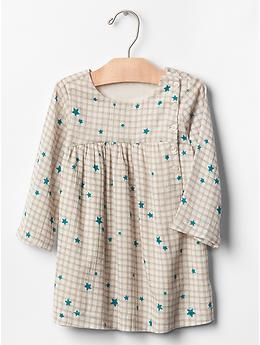 Mix-print empire button dress  LOVE buttons down side front!