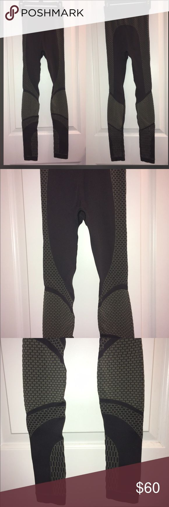 Lululemon Charcoal leggings Authentic Lululemon leggings. Excellent condition no flaws. High Waisted but can be comfortably folded over. Moto style I guess you could call them. Love the detailing on these but they no longer fit me! Size 2 but tag is ripped off. Very firm on the price. lululemon athletica Pants Leggings