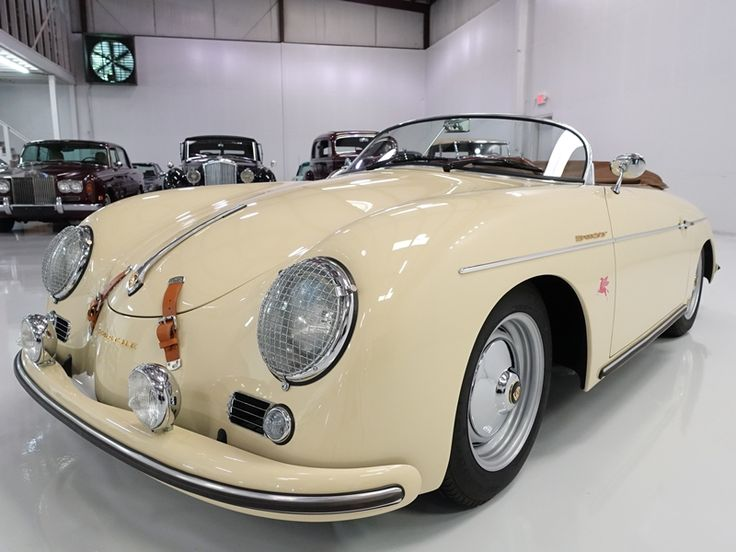 The 1957 Beck Porsche 356 Speedster featured here is finished in gorgeous Harvest Moon Beige with an impeccably-kept dark tan leather interior. This magnificent motorcar is a Beck-built reproduction of Porsche's 356 Speedster; it features...