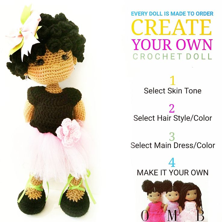 CREATE YOUR OWN Crochet Doll by OliviaandMeBoutique on Etsy