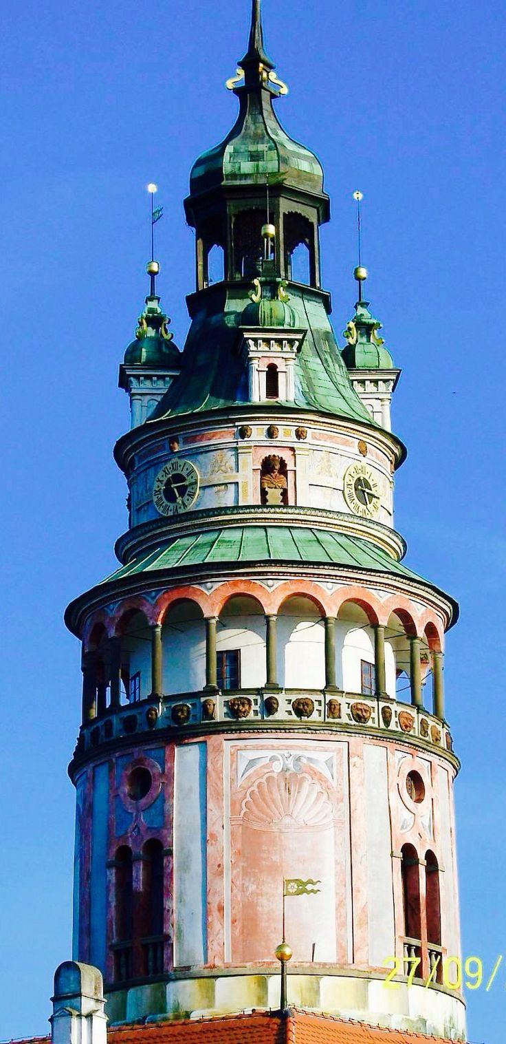 Tower at Cesky Krumlov Castle,Czech Republic