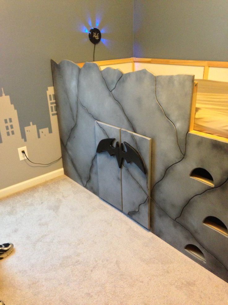 Bat Cave For My Trey Man We Started With An Ikea Junior Loft Bed And Ended With Awesome In