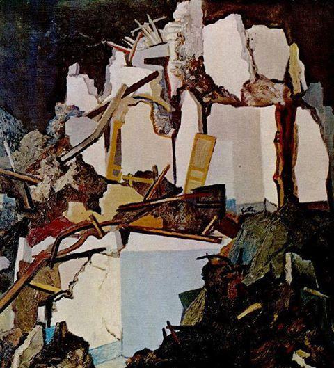 Renato Guttuso - Rovine di Gibellina, 1970