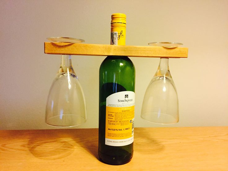 Wine bottle and glass holder. A personalised message can be added.