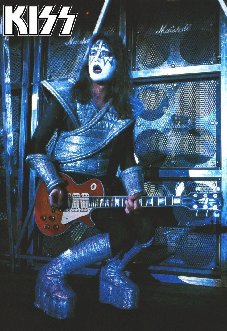 KISS Alive II Ace Frehley Live Stage Stand-Up Display - KISS Band Collectibles Memorabilia Posters T-Shirts Retro Gift Idea kiss76