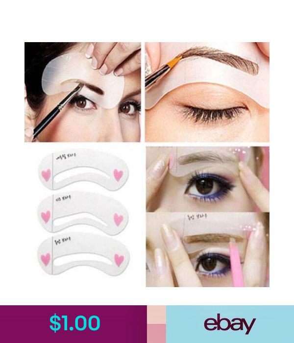 Makeup Tools & Accessories Womens 3 Eyebrow Shapes Stencils Shaper Grooming Brow Makeup Template Tools B #ebay #Fashion | Products | Pinterest | Makeup, Eyebrows and Beauty makeup