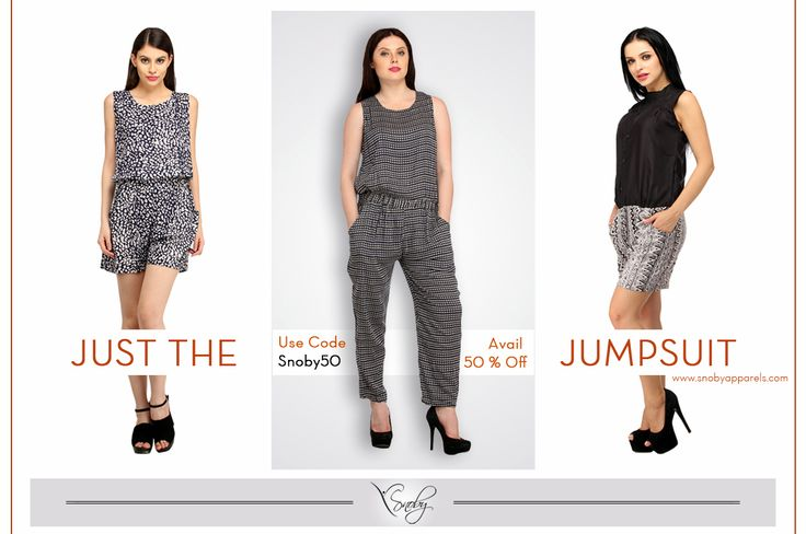 """Shop wide range of Jumpsuits by Snoby. Avail 50% off on all the products. Use Code """"Snoby50"""" at the time of checkout. Happy Shopping 