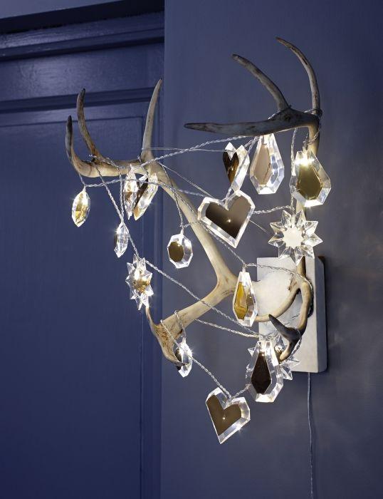 STRÅLA, illuminazione 16 luci, per interni, trasparente