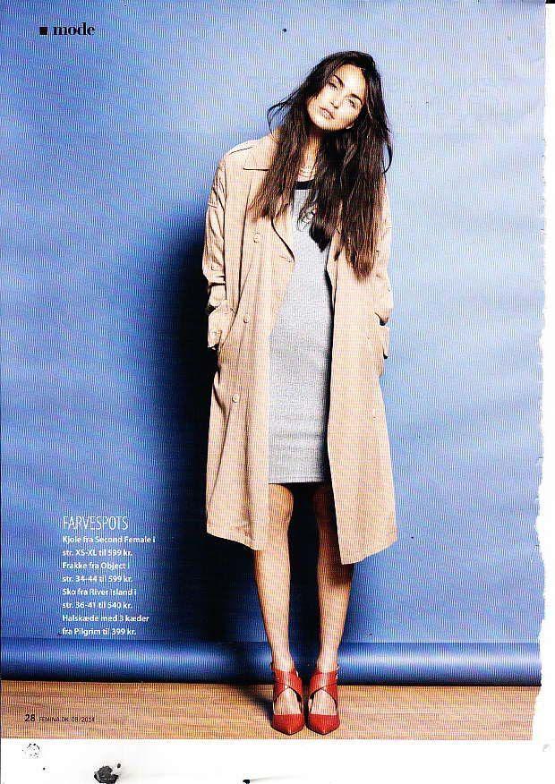 Diva trench coat feat in the Danish mag FEMINA (FEB 2014) #objectfashion