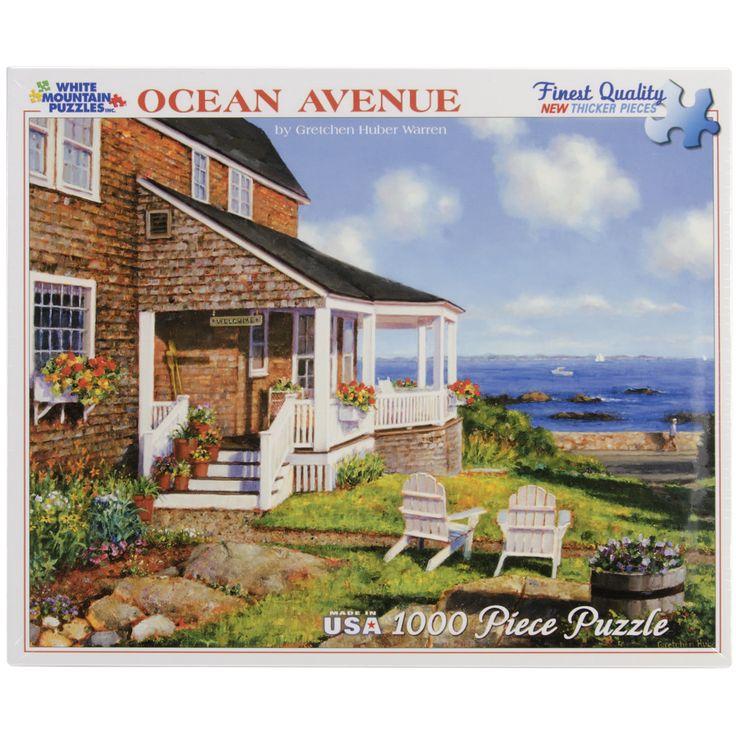 White Mountain Puzzles Ocean Blue Avenue Puzzle