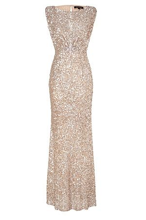 LOVE the dress for an unusual wedding gown...sequined Jenny Packham dress
