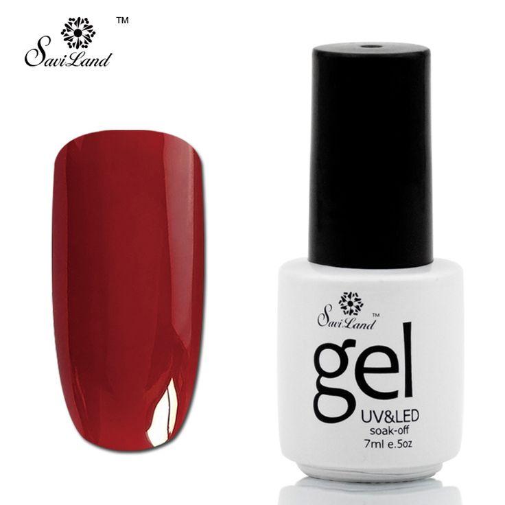 Saviland 1pcs Gel Nail Polish UV LED Gel Varnishes Pure Colors Top Base Coat Pure Bright Glitter 58 Colors Long Lasting