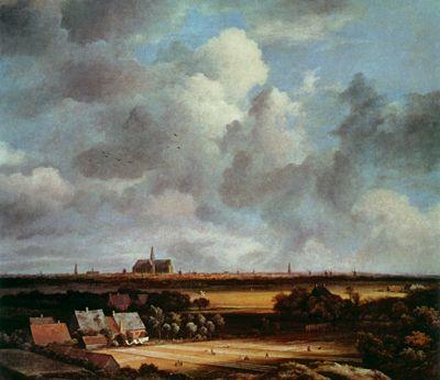 (Van Ruisdael) View of Haarlem from the Dunes at Overeen, 1600's