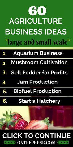 60 Profitable Agriculture Business Ideas