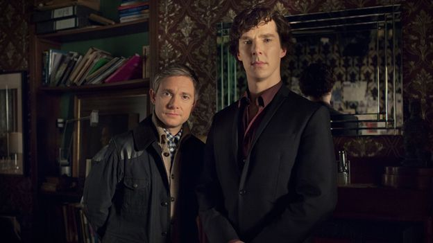BBC One's July 2, 2014 press release (with quotes from creator/writer Mark Gatiss) about the return of SHERLOCK: Filming for a special begins in January 2015, followed later that year by the filming of Series/Season 4. [Click for BBC press release]