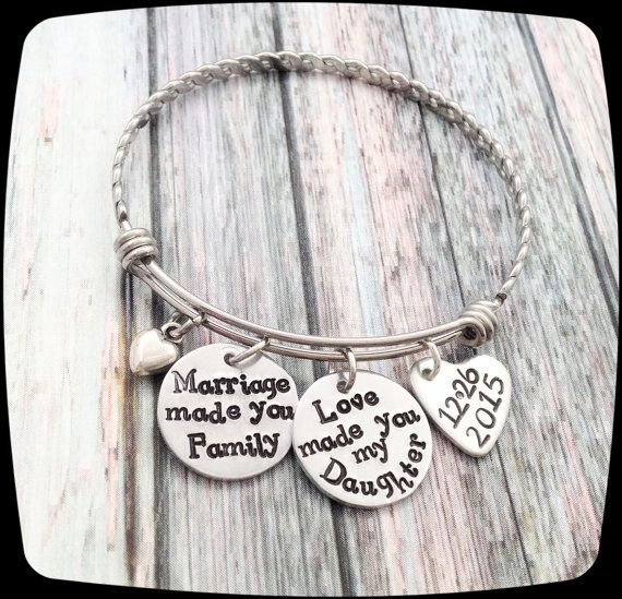 Adoption Gift, Blended Family Gift, Bangle Bracelet, Adoption Jewelry, Step Daughter Gift, Adoptive Foster Parent Gift