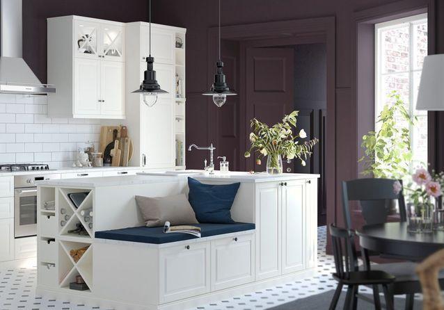 Cuisine Ikea Les Plus Beaux Modeles Du Geant Suedois Elle Decoration Cuisine Ouverte Sur Salon Ikea Cuisine Ouverte