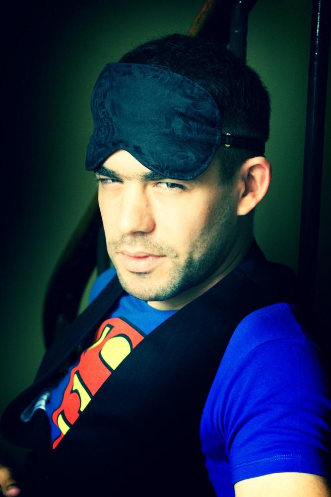Dude...superman      http://www.lovemesugar.com/product/dude-dudettes-sleep-mask-for-men-or-unisex-in-black-printed-silk