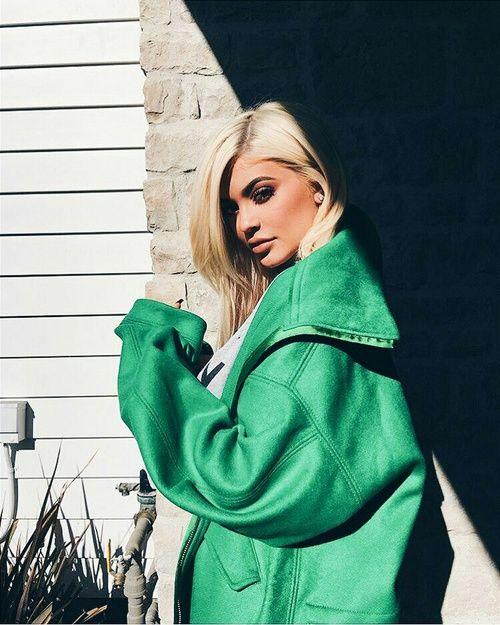 Imagen de kylie jenner, green, and beauty