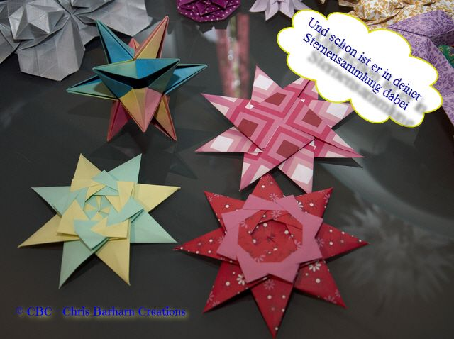 Braided Star from Maria Sinayskaya and Omega Star from John Montroll