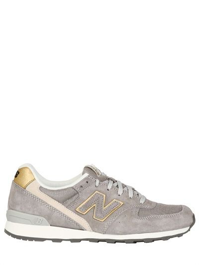 NEW BALANCE / 996 SUEDE AND MESH SNEAKERS
