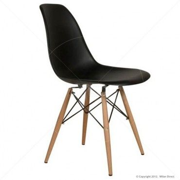 25 best ideas about eames dining chair on pinterest for Black plastic dining chairs