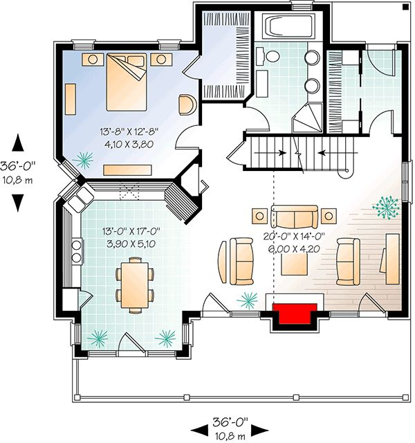 Plan 21567dr four seasons cottage
