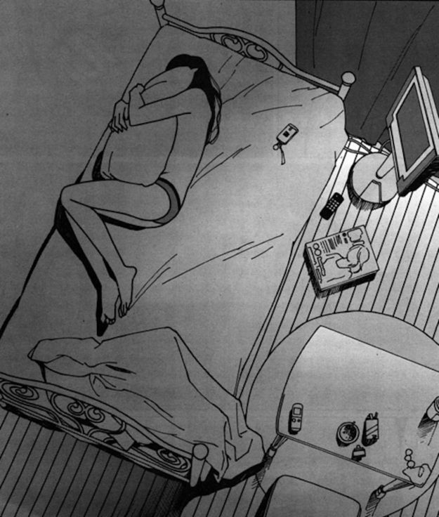 Sleeping alone.