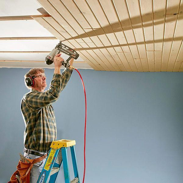 Most Of The T G You Ll Find At Home Centers And Lumberyards Is 1x6 Or 1x8 Spruce But Other Wood Opt Wood Plank Ceiling Tongue And Groove Ceiling Plank Ceiling