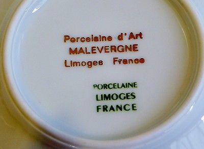Vtg Porcelaine D Art Malevergne Demitasse Cup Amp Saucer