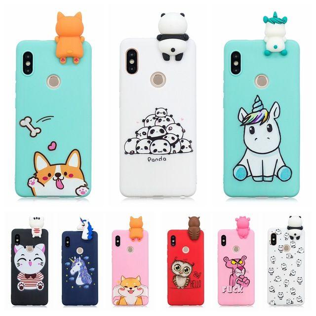 Etui Xiaomi Redmi Note 5 Case Cover On Redmi Note 5 Pro 3d Cute Panda Unicorn Silicone Case For Funda Xiaomi Redmi Note 5 Case Revie Case Cute Cases Case Cover