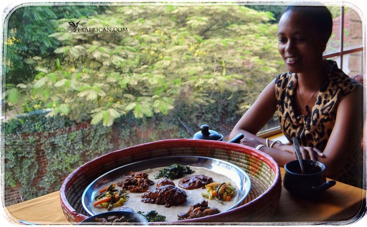 An Ethiopian meal with a view