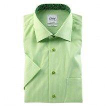 Рубашка non iron зеленая с коротким рукавом 8750 93