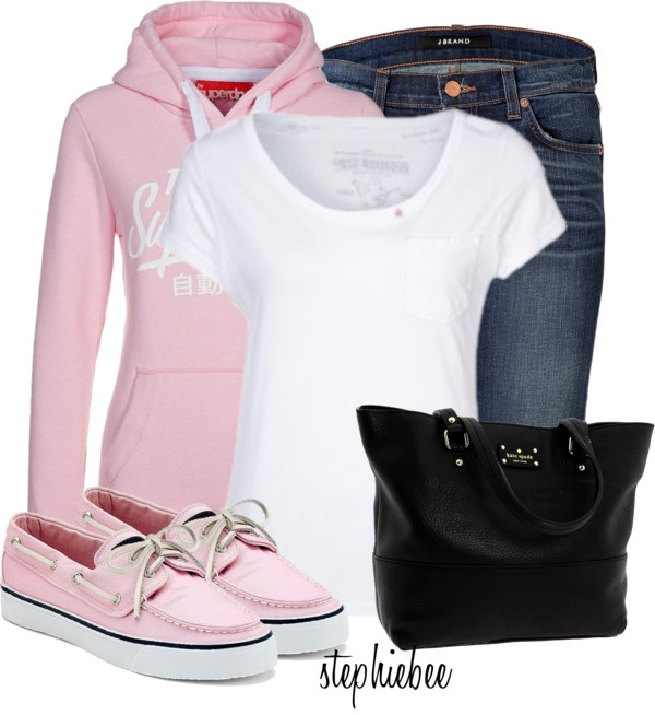 """""""Pink Sperry's"""" by stephiebees on Polyvore"""
