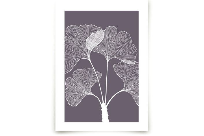Branch with leaves by Anna at minted.com