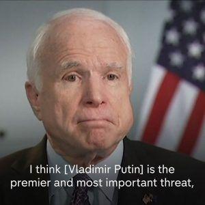 John McCain says Putin is the most important threat  more so than ISIS.  The Republican Senator a #news #alternativenews