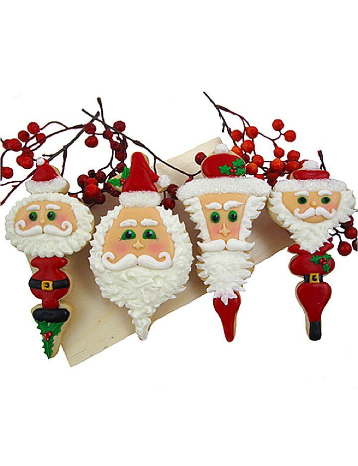 Fancy Santa cookies