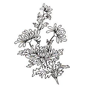 Chrysanthemum stamp - $3 (discontinued. Order soon!)