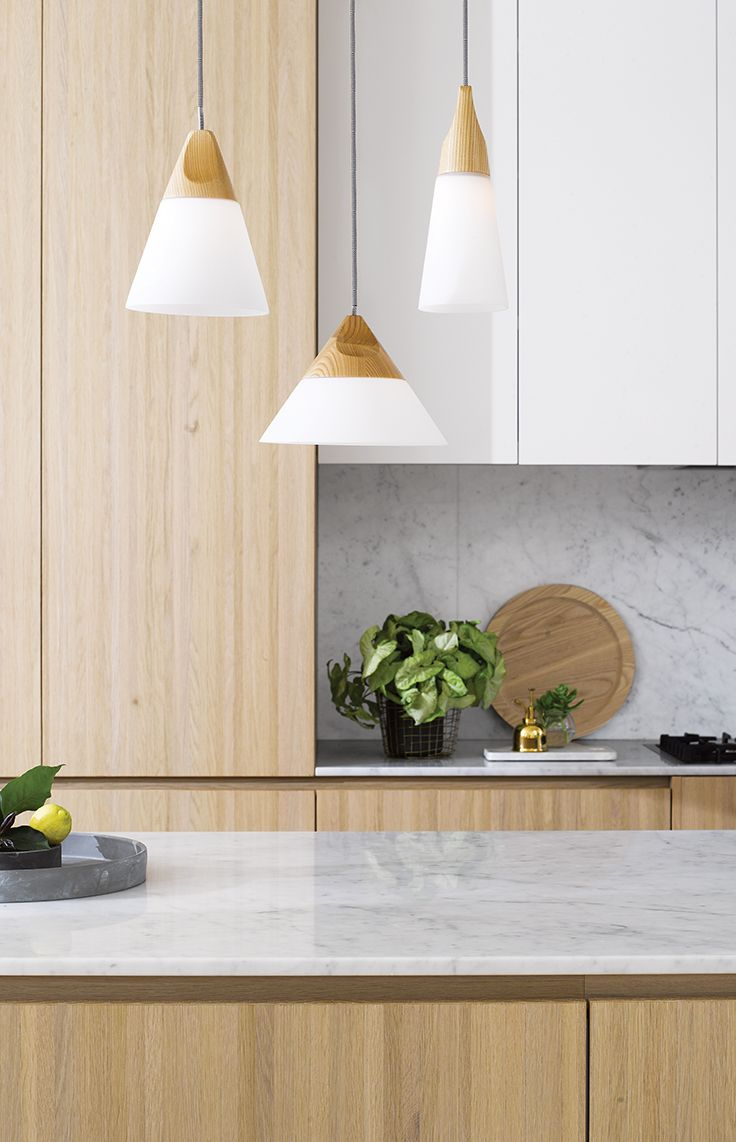 The Beacon Lighting Odense 1 light large coolie pendant in ash and frosted glass