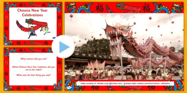 Chinese New Year Celebrations Videos Powerpoint Video Clip