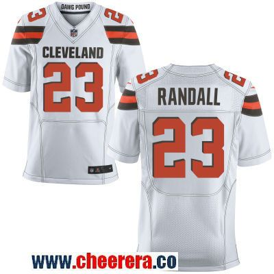 78a3ae8cd Men s Cleveland Browns  23 Damarious Randall White Road Stitched NFL Nike  Elite Jersey