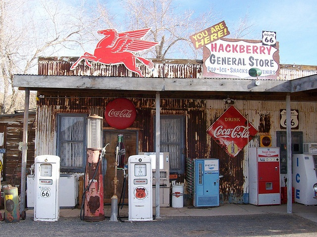 You are here!  Hackberry General Store along Arizona's Route 66 - highway